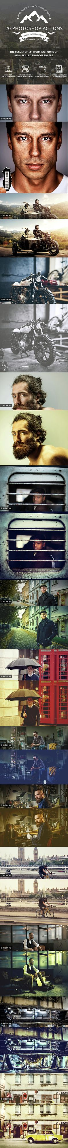 20 Photo Effect Photoshop Actions