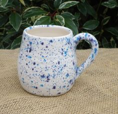 Cuddle mug coffee tea cup handthrown ceramic pottery.