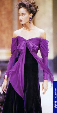 The Gloss Menagerie ca. Jean Louis Scherrer show f/w 1988 feat Anne Fiona Virtual Fashion, 80s Fashion, Runway Fashion, Fashion Show, Reign Fashion, Style Couture, Couture Fashion, Beautiful Gowns, Beautiful Outfits