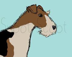 Wire Fox Terrier Digital Art Print