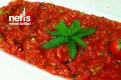 Lokanta Ezmesi (videolu) Tarifi Salsa, Meat, Cooking, Ethnic Recipes, Food, Crafts, Recipes, Turkish Recipes, Chef Recipes