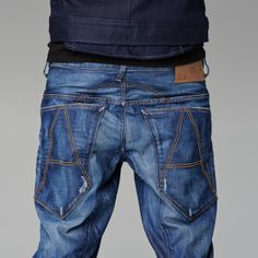 8ada1a33475 G-Star RAW — A-crotch Tapered - Men - Jeans Dark Jeans