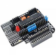 Arduino + Raspberry Pi = RasPiO Duino. This add-on board is bringing together the best of both worlds. #Atmel #RasPioDuino #RaspberryPi #Arduino #Makers #DIY