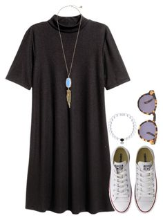 """""""Starting to feel like Christmas:)"""" by flroasburn ❤ liked on Polyvore featuring Converse, Illesteva and Kendra Scott"""