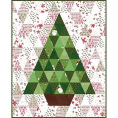 Christmas Tree Quilt Kit, Christmas Wall Hangings, Christmas Tree Pattern, Christmas Fabric, Christmas Quilting Projects, Christmas Quilt Patterns, Cabin Christmas, Christmas Lights, Christmas Ornaments
