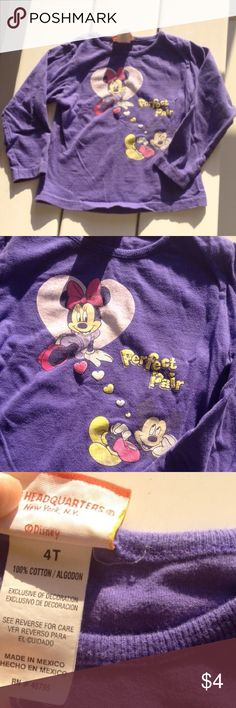 Mickey Mouse long sleeve Top shirt girls kids Mickey Mouse long sleeve Top shirt girls kids fair condition slightly faded. Shirts & Tops Tees - Long Sleeve