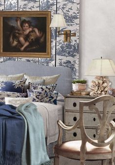 Bedroom Inspiration - Designers do it  with colour and pattern