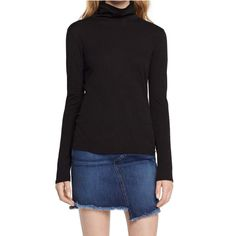 Rag & Bones Long sleeved slim fit classic turtleneck, is a perfect layering piece, this top is a must have for any season. - 100% Pima cotton jersey - Soft, worn-in handfeel - Slim fit - Signature rai