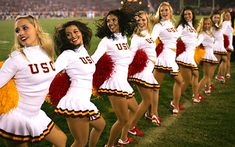 USC Song Girls- Best college cheerleading uniform. Classy..