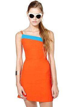 Gianni Versace Orange Crush Dress