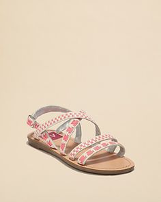 DV Dolce Vita Girls' Beja Flat Strappy Sandals - Little Kid, Big Kid | Bloomingdale's