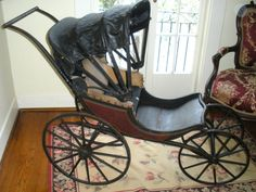 Antique 1866 Baby Carriage Pram Museum Worthy by Nolacottage, $1200.00