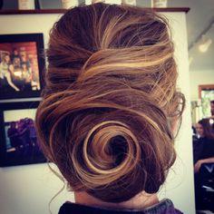 Updos   Swirled Bun. Beautiful.