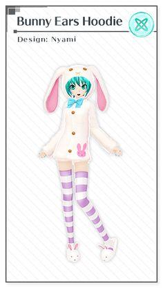 Bunny Ears Hoodie | Design: Nyami