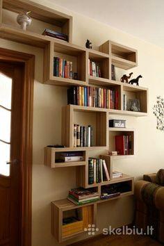 Pin by Zekic M on police in 2019 Creative Bookshelves, Bookshelf Design, Wall Shelves Design, Home Decor Shelves, Home Decor Furniture, Diy Home Decor, Furniture Design, Home Office Design, Home Interior Design