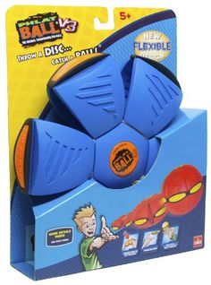 Goliath Phlat Ball Blue: Throw a disc, catch a ball! Phlat Ball transforms from a flying disc to a ball. Random time delay adds to the fun and excitement of the game play. Ages 5 and up. Games To Play With Kids, Sports Games For Kids, Sports Toys, Blue Throws, Stress Relief Toys, Outdoor Toys, Activity Games, Activities, Blue Orange