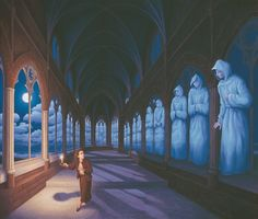 Canadian artist Robert Gonsalves has taken his passion for the work of Salvador Dali and Rene Magritte to the next level with these surreal optical illusions. Rene Magritte, Optical Illusion Paintings, Amazing Optical Illusions, Illusion Kunst, Illusion Art, Canadian Painters, Canadian Artists, Robert Gonsalves, Max Ernst