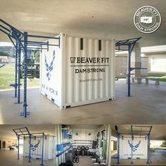 Box contenair Home Gym Garage, Diy Home Gym, Crossfit Home Gym, Mma Gym, Cargo Container Homes, Gym Design, Gym Style, Wishful Thinking, Storage Containers