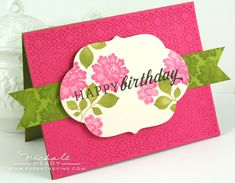 Lace Bouquet on mat and banner ribbon