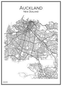 New Zealand, Nya Zeeland. Auckland, Vintage Maps, Antique Maps, City Print, Print Print, Map Of New Zealand, Line Art Tattoos, Island Map, Paris Map