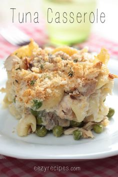 When you are short on time and want to feed your family something healthy but don't want to spend a lot of time making something this tuna casserole dish is for you. If you like your dishes just a little creamier then add some milk before you bake. For...