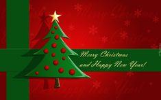 Boże Narodzenie, Nowy Rok, Napis, Choinka