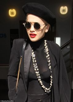 Rita Ora spotted wearing Le Specs x Henry Holland 'Lennons' sunglasses