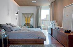 Apartamento decorado com cores neutras para um solteiro - Casa