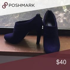Kelly & Katie purple booties Dark purple suede bootie. Back zipper, size 8.5 NBW Kelly & Katie Shoes Ankle Boots & Booties