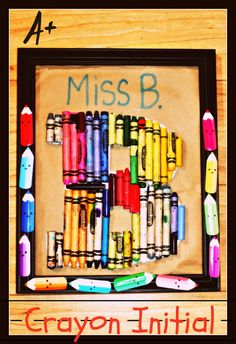 Crayon initial for teacher