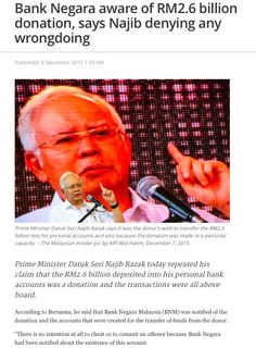 Oh dear, it seems Najib Razak had made a huge blunder in last night's interview which is shown on national television. He actually said that back in 2013 when the bank accounts were first created t...