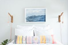 Get your guest room in-law ready with a prize pack from us, Framebridge, Parachute Home, Snowe Home & Casper! Diy Originales, Parachute Home, Picture Frame Art, Bright Rooms, Luz Led, Clever Design, Closet Bedroom, Humble Abode, Beautiful Space