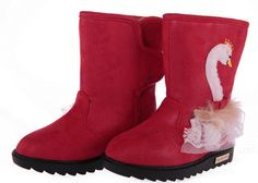 This kind boots are in a red color which looks attention-getting. Baby ugg dark red.