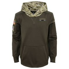 Youth Oakland Raiders Nike Olive Salute to Service Performance Pullover  Hoodie 0dfe0570a