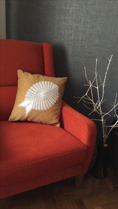 Diy makeover pillow #pillow #dantel lace #lacework