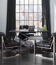 What a smart looking home office for your man! via https://www.pinterest.com/pin/63543044711924070/