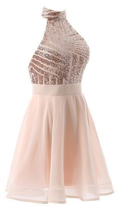 Short Halter Prom Party Dress Backless Homecoming Dress for Juniors