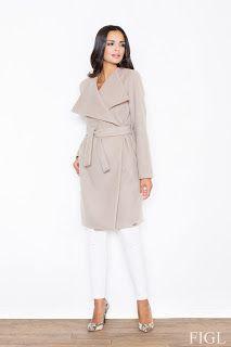 Beige Long Coat Like Jacket Made Of Scuba Knit Fabric Long Beige Coat, Coats For Women, Jackets For Women, Mantel Beige, Types Of Coats, Langer Mantel, Shades Of Beige, Wrap Coat, Oversized Coat