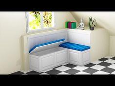 Como hacer un banco rinconera, arcón. - YouTube Bench, Decoration, Storage, Videos, Youtube, House, Furniture, Home Decor, Kitchen Booth Table