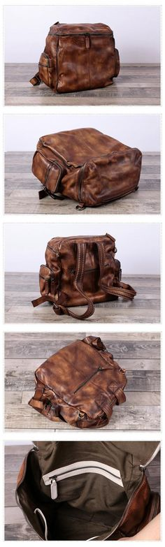d46883885094 Handmade Full Grain Leather Backpack Travel Backpack Feature  1.  Comfortable Shoulder Strap 2.