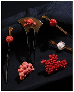 Coral, Japanese jewelry