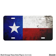 Black Grunge Texas State Flag - Car Floor Mats License Plates, Air Fresheners, and other Automobile Accessories