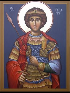 George by Geogi Nanava Religious Icons, Religious Art, Gardian Angel, Creativity Exercises, Byzantine Icons, Early Christian, Saint George, Orthodox Icons, Saints