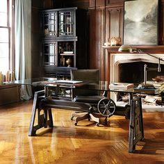Industrial Crank Desk Industrial Desk, Home Office, StudyArhaus Furniture