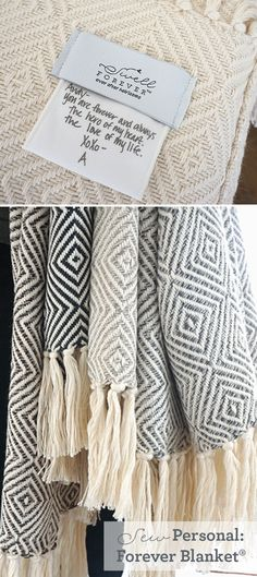 Forever Blanket® {throw} collection by Swell Forever. Gorgeous, American Made alpaca throws with beautiful fringe. Each design comes with a uniquely customized fabric message tag to share a note, well wishes, thank you, etc. or to celebrate weddings, special milestones, wedding dates, and more. Handwritten message tags available using your own handwriting or pulled from a letter or card. Bridesmaid gifts, wedding day gifts, bridal shower, birthday gifts, grandparent gifts, anniversary dates.