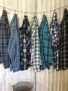 Mar 2020 - 5 Bachelorette Party Flannels men's Green Blue Plaid Shirts Bridesmaid Robes Teal Mismatched Flannels Monogrammed Girls Night Out Flannels Lined Flannel Shirt, Mens Flannel Shirt, Plaid Shirt Outfits, Plaid Flannel, Cute Casual Outfits, Plaid Shirts, Blue Plaid, Oversized Flannel Outfits, Flannel Outfits Summer