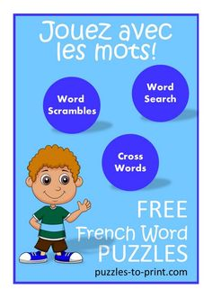 Teach French with word puzzles.  These free, printable worksheets are great for classroom or home use.  Fun French club activity too!  http://www.puzzles-to-print.com/french-puzzles.shtml