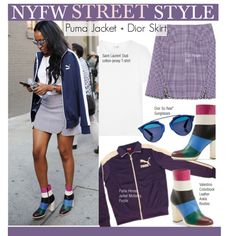 How To Wear NYFW Street Style-Puma Jacket + Dior Skirt Outfit Idea 2017 - Fashion Trends Ready To Wear For Plus Size, Curvy Women Over 20, 30, 40, 50