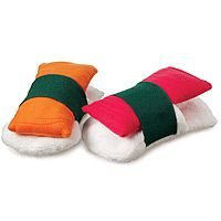 Unique gifts on this page, some of which I could make myself such as these sushi slippers