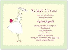 Bridal shower invites via wedding paper divas